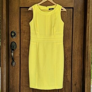 Ellen Tracy Yellow textured Dress